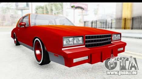 Chevrolet Monte Carlo Breaking Bad pour GTA San Andreas vue de droite