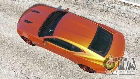 GTA 5 Chevrolet Camaro SS 2016 v2.0 Rückansicht