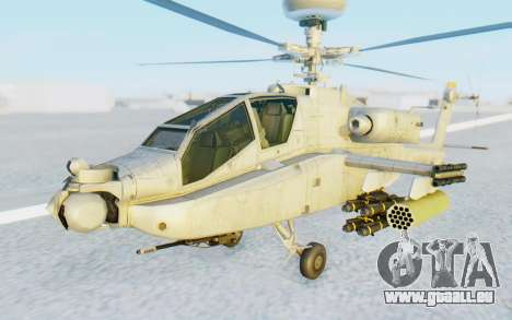 AH-64 Apache Marines pour GTA San Andreas vue de droite