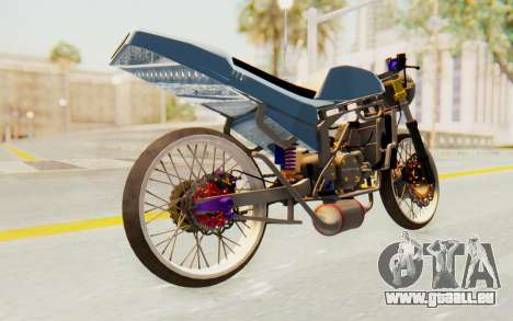 Kawasaki Ninja 150S Thailock pour GTA San Andreas sur la vue arrière gauche