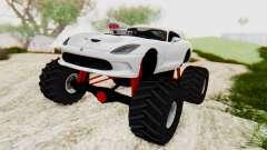 Dodge Viper SRT GTS 2012 Monster Truck für GTA San Andreas