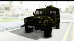 UAZ-469 Militär Polizei von Serbien für GTA San Andreas