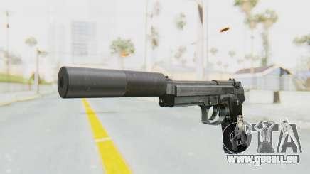Tariq Iraqi Pistol Back v1 Silver Silenced für GTA San Andreas
