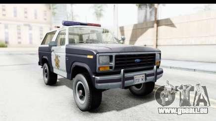 Ford Bronco 1982 Police pour GTA San Andreas