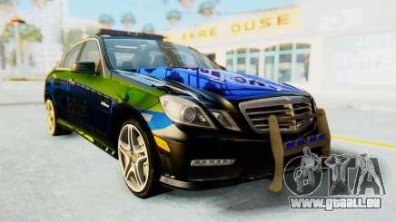 Mercedes-Benz E63 German Police Blue-Yellow für GTA San Andreas
