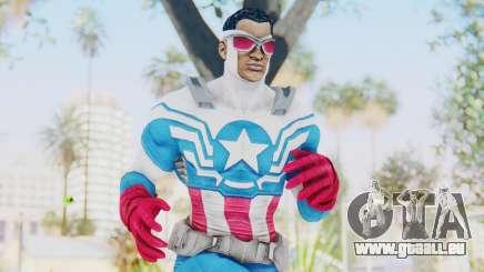 Marvel Heroes - Capitan America Sam Wilson pour GTA San Andreas