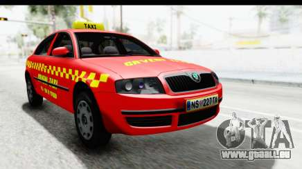 Skoda Superb Rouge Taxi pour GTA San Andreas