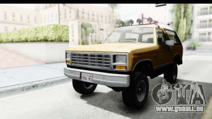 Ford Bronco 1980 Roof IVF pour GTA San Andreas