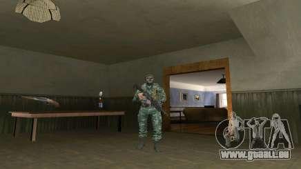 L'atmosphère de soldat en tenue de camouflage de bouleau pour GTA San Andreas