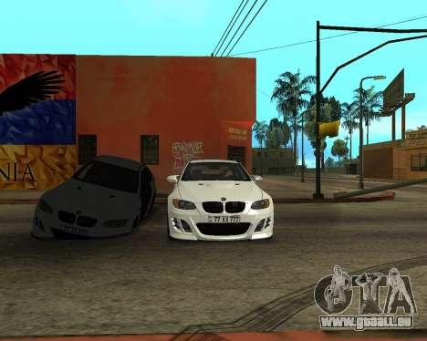 BMW M3 Armenian pour GTA San Andreas vue de dessus