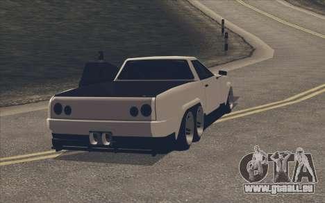 Elegy Ibragim pour GTA San Andreas sur la vue arrière gauche