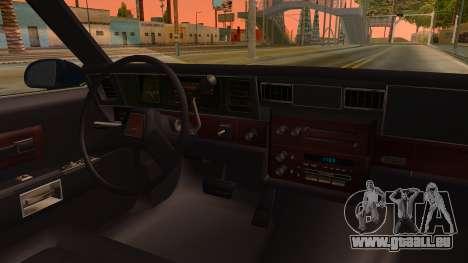 Chevrolet Caprice 1989 Station Wagon IVF für GTA San Andreas Innenansicht