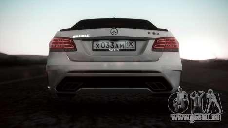 Mercedes-Benz E63 GSC für GTA San Andreas zurück linke Ansicht