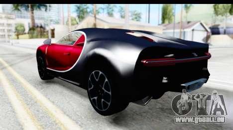 Bugatti Chiron 2017 v2 pour GTA San Andreas laissé vue