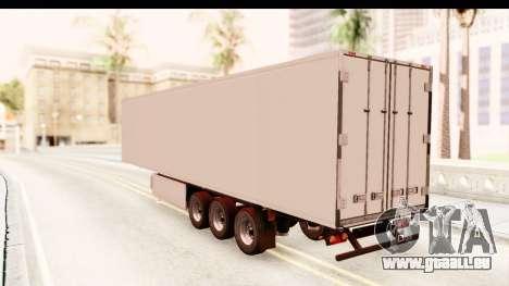 Trailer ETS2 v2 New Skin 1 pour GTA San Andreas sur la vue arrière gauche