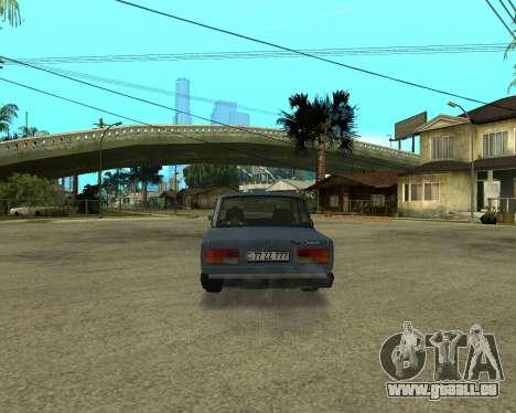 VAZ 2107 Armenian pour GTA San Andreas vue arrière