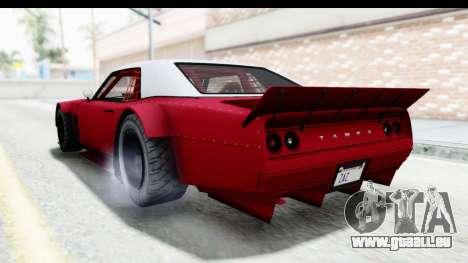 GTA 5 Declasse Drift Tampa IVF für GTA San Andreas rechten Ansicht