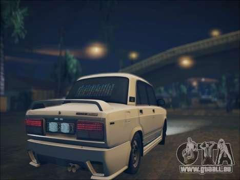 2107 Kolxz pour GTA San Andreas vue arrière