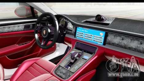 Porsche Panamera 4S 2017 v2 pour GTA San Andreas vue intérieure