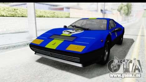 Ferrari 512 GT4 BB 1976 pour GTA San Andreas vue intérieure