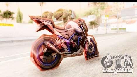 Yamaha MT-25 (MT-03) pour GTA San Andreas laissé vue