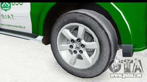 Mitsubishi Montero Carabineros Abschnitt SIAT für GTA San Andreas Rückansicht