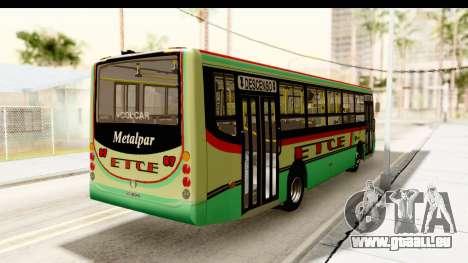 Metalpar Tronador 2 Puertas ETCE GTA Micros Arg pour GTA San Andreas sur la vue arrière gauche