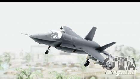 Lockheed Martin F-35B Lightning II für GTA San Andreas zurück linke Ansicht