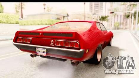 Ford Torino pour GTA San Andreas sur la vue arrière gauche