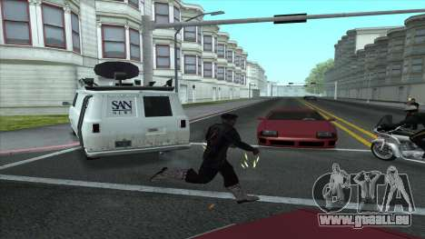 Newsvan Follow You pour GTA San Andreas deuxième écran