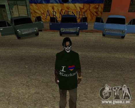 VAZ 2101 Armenian pour GTA San Andreas vue de dessous