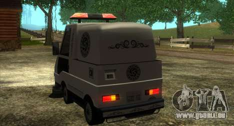 New Sweeper IVF pour GTA San Andreas vue arrière