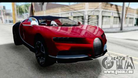 Bugatti Chiron 2017 v2 für GTA San Andreas rechten Ansicht