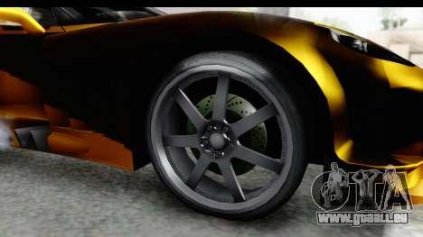 NFS Carbon Chevrolet Corvette pour GTA San Andreas vue arrière