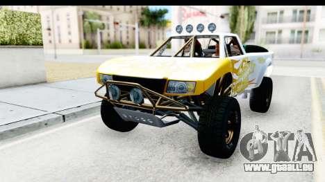 GTA 5 Trophy Truck SA Lights PJ pour GTA San Andreas vue de côté