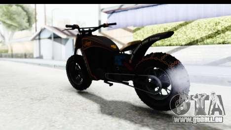 GTA 5 Western Gargoyle Custom v1 IVF pour GTA San Andreas sur la vue arrière gauche