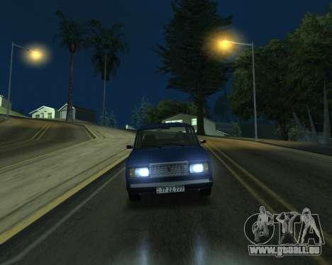 VAZ 2107 Armenian pour GTA San Andreas vue de droite