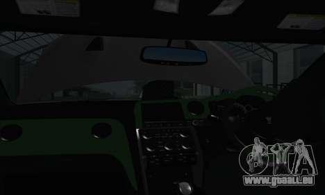 Nissan GT-R R35 Green Screen pour GTA San Andreas vue arrière