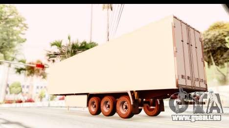 Trailer ETS2 v2 New Skin 2 pour GTA San Andreas laissé vue