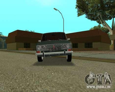 VAZ 2103 arménien pour GTA San Andreas sur la vue arrière gauche