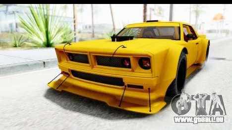 GTA 5 Declasse Drift Tampa pour GTA San Andreas sur la vue arrière gauche