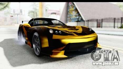 NFS Carbon Chevrolet Corvette pour GTA San Andreas sur la vue arrière gauche