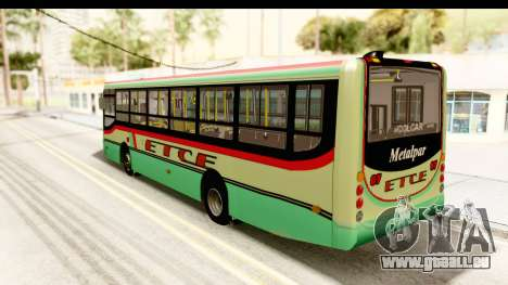 Metalpar Tronador 2 Puertas ETCE GTA Micros Arg pour GTA San Andreas laissé vue