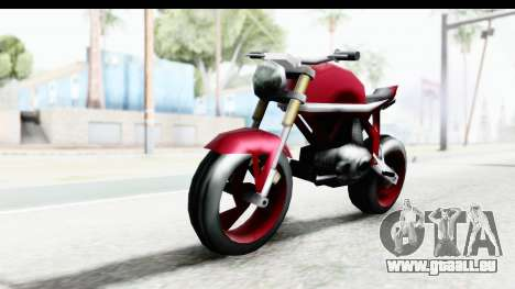 Custom Stunt FCR9000 pour GTA San Andreas vue de droite
