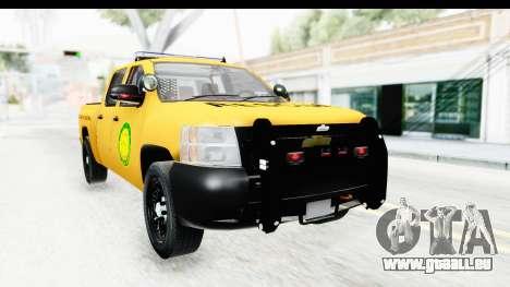 Chevrolet Silvedaro Basarnas pour GTA San Andreas vue de droite