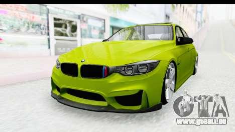BMW M3 F30 Hulk für GTA San Andreas
