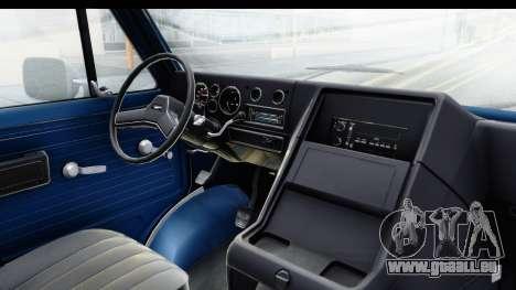 GMC Vandura 1985 White Stripes HQLM für GTA San Andreas Innenansicht