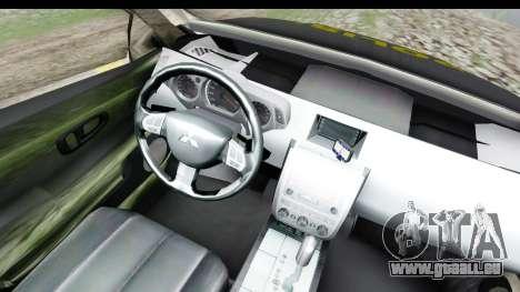 Mitsubishi L200 Indonesian Police pour GTA San Andreas vue intérieure