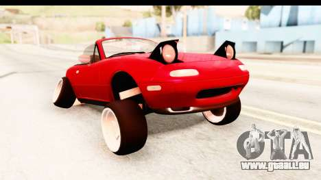 Mazda Miata with Crazy Camber für GTA San Andreas zurück linke Ansicht