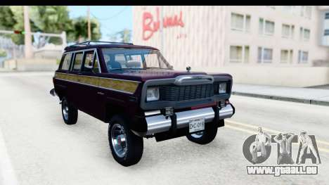 Jeep Grand Wagoneer für GTA San Andreas
